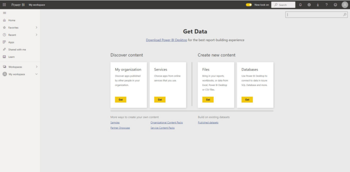 Different data sources for Power BI
