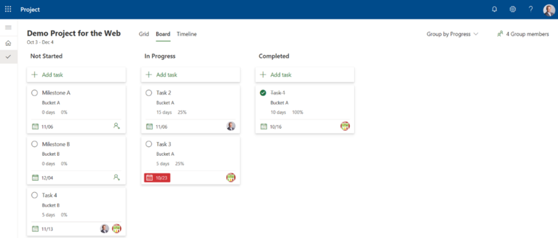 New Microsoft Project - Grouping