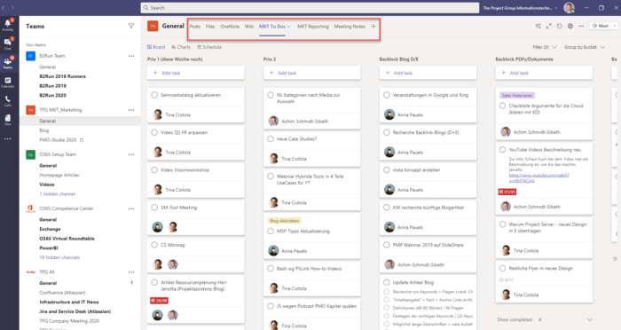 MS Teams Planner Integration