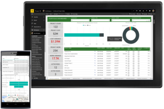 MS Power BI runs on mobile and local devices
