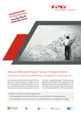 Warum MS Project Server / Project Online
