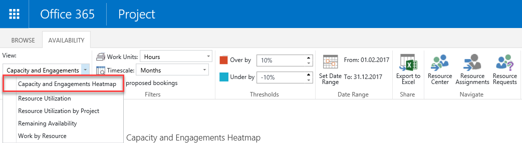 Using Resource Engagements in MS Project 2016 10