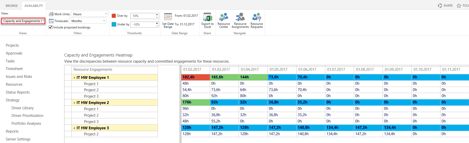 Using Resource Engagements in MS Project 2016 11