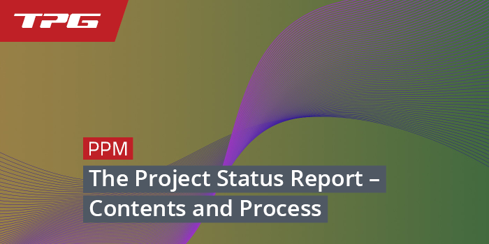 the project status report contents and process