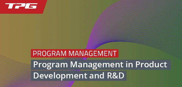 Program Management in Product Development