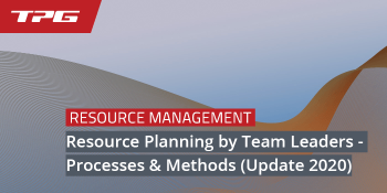 Resource Planning by Team Leaders Header
