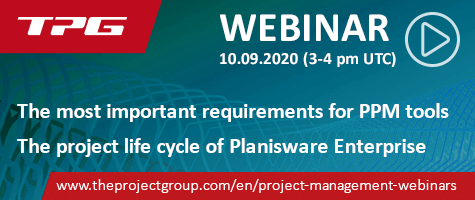 Banner Webinar Planisware Enterprise TPG The Project Group