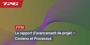 rapport d'avancement de projet