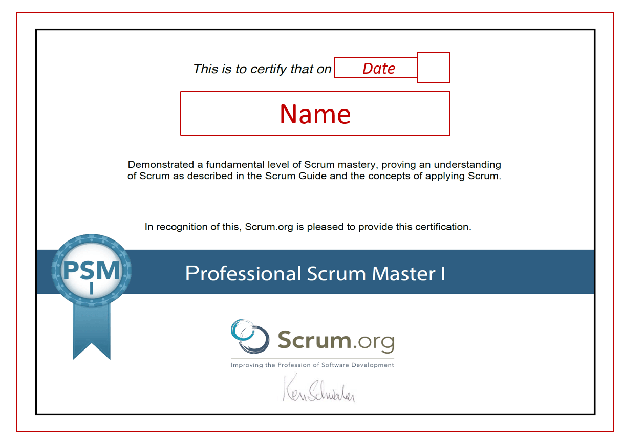 agile project management certifications – PSM I by Scrum.org