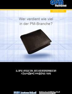 Mehr Gehalt dank PMP-Zertifizierung: GPM-Gehaltsbroschüre