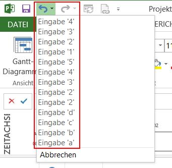 Projektdaten automatisch speichern