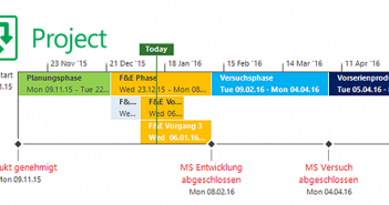 Mehrere Timelines anlegen in Microsoft Project