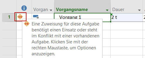 Ressourcenanfragen in Microsoft Project 2016