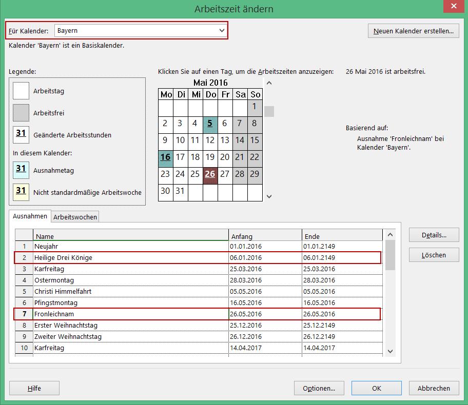 Ressourcenkalender in Microsoft Project Bild 4