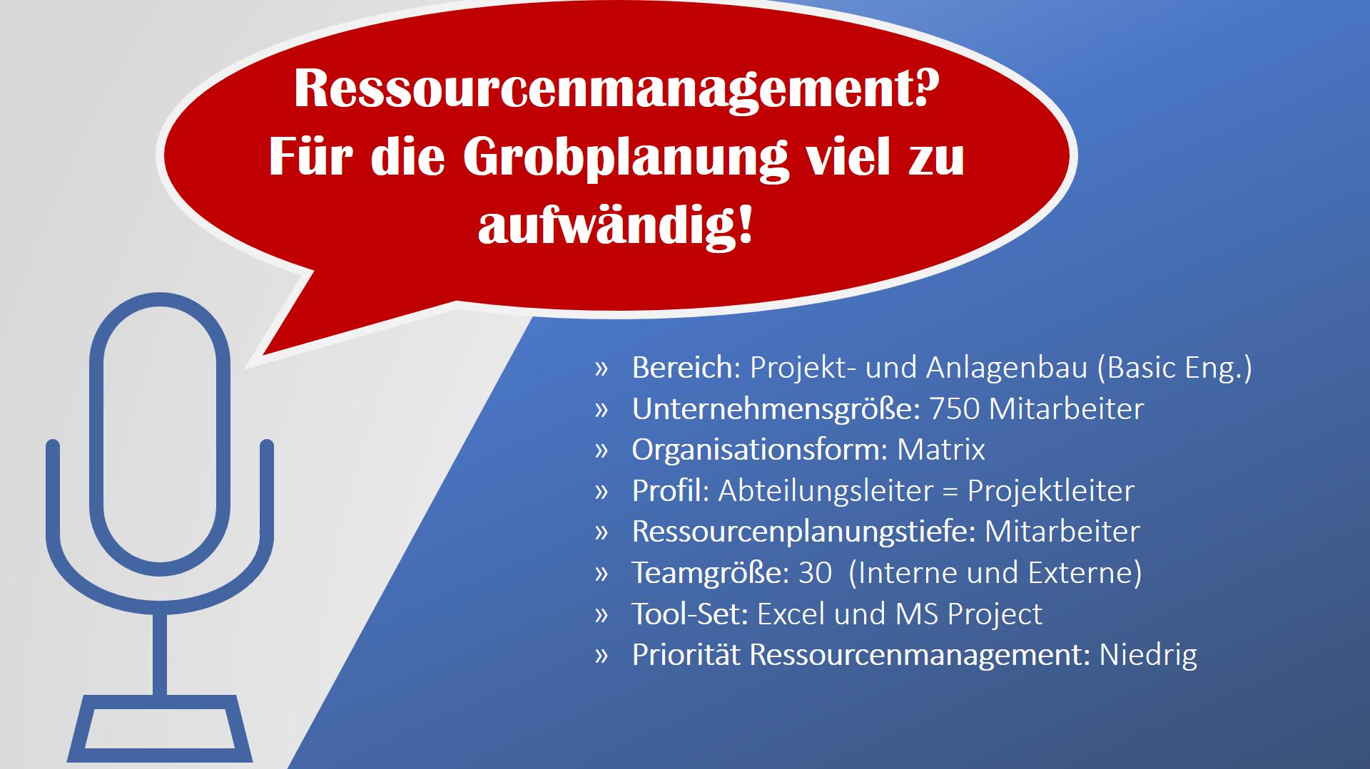 Ressourcenmanagement in Projekten 1