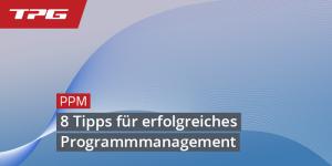 Programmmanagement - wichtige Tipps