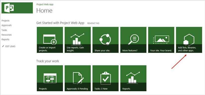 Ideenliste anlegen in der Project Web App