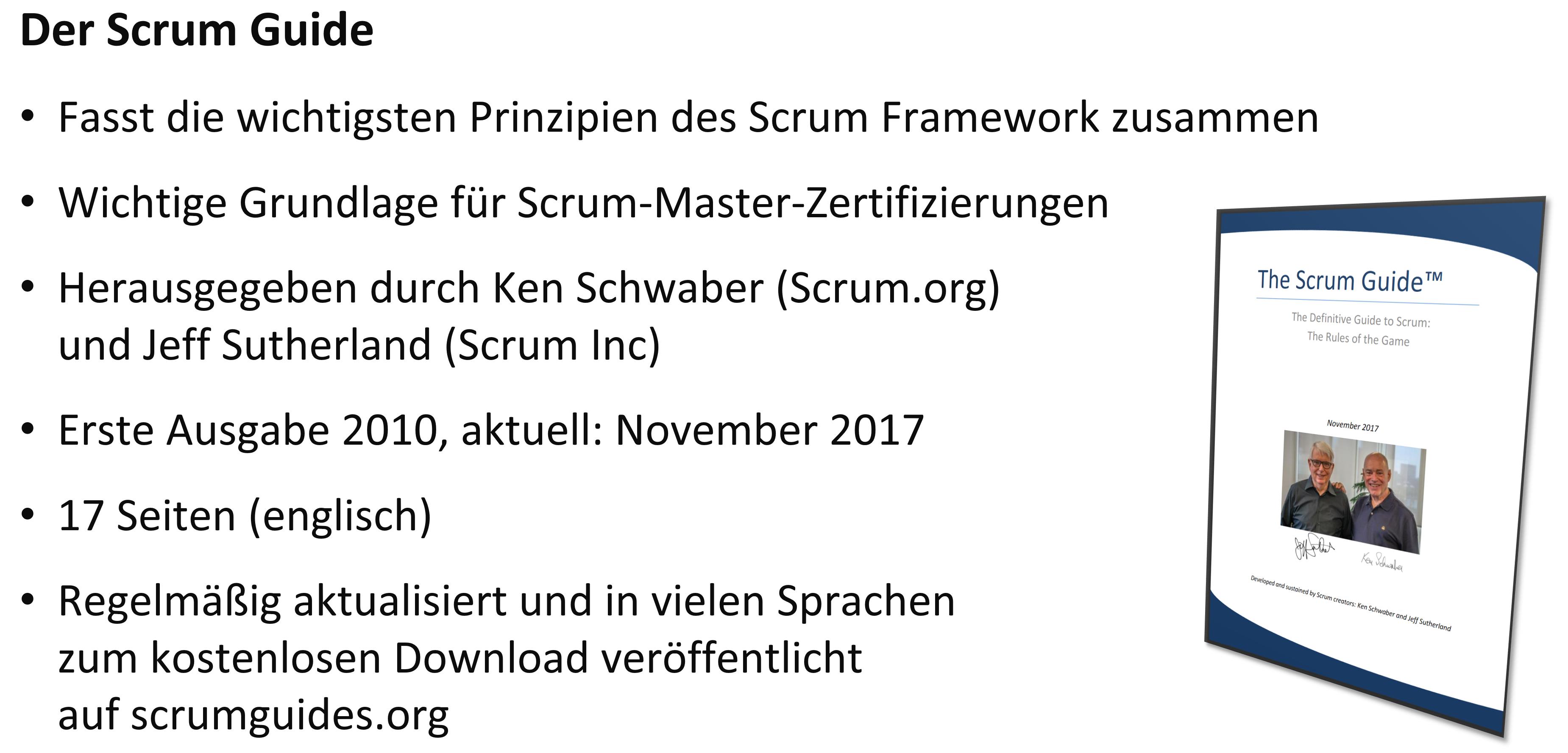 Agile Zertifizierung - Scrum Guide