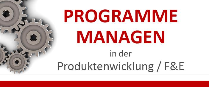 Programmmanagement in der Produktentwicklung F&E