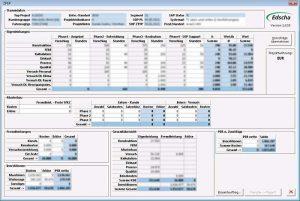 Projektmanagement Automobilzulieferer - Planungsmaske
