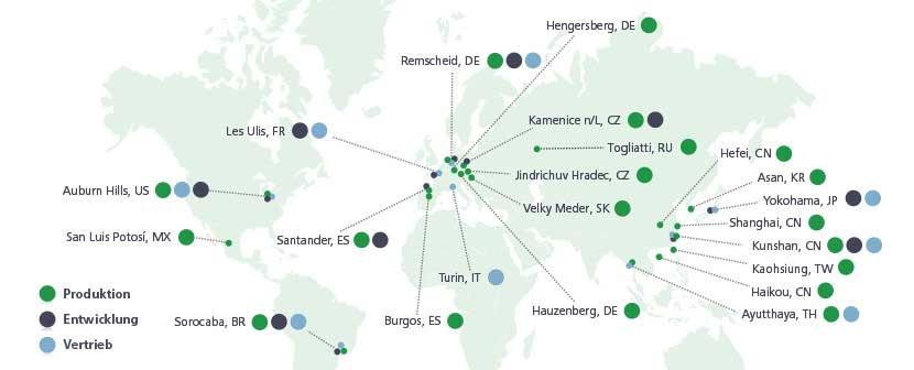 weltweite Standorte Edscha