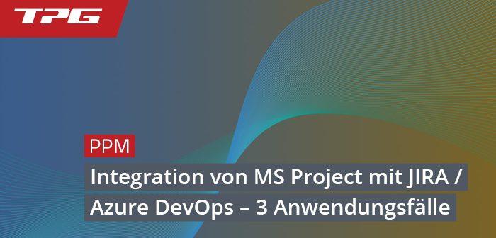 Header Integration von MS Project mit Jira