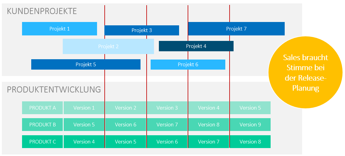 Hybride Abwicklung bei Projekten mit Kundenberatung und zugehöriger Produktentwicklung