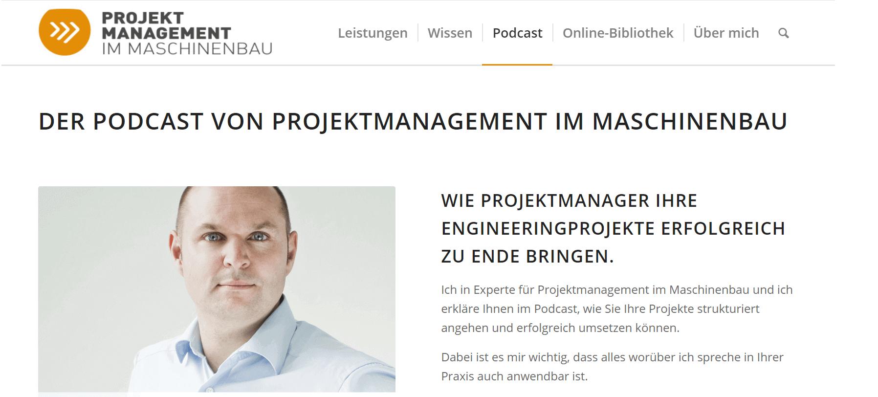 Projektmanagement-Podcasts Projektmanagement im Maschinenbau