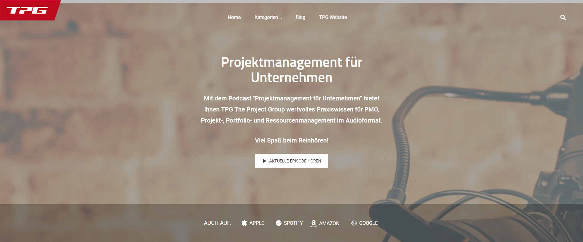 TPG The Project Group Projektmanagement-Podcasts