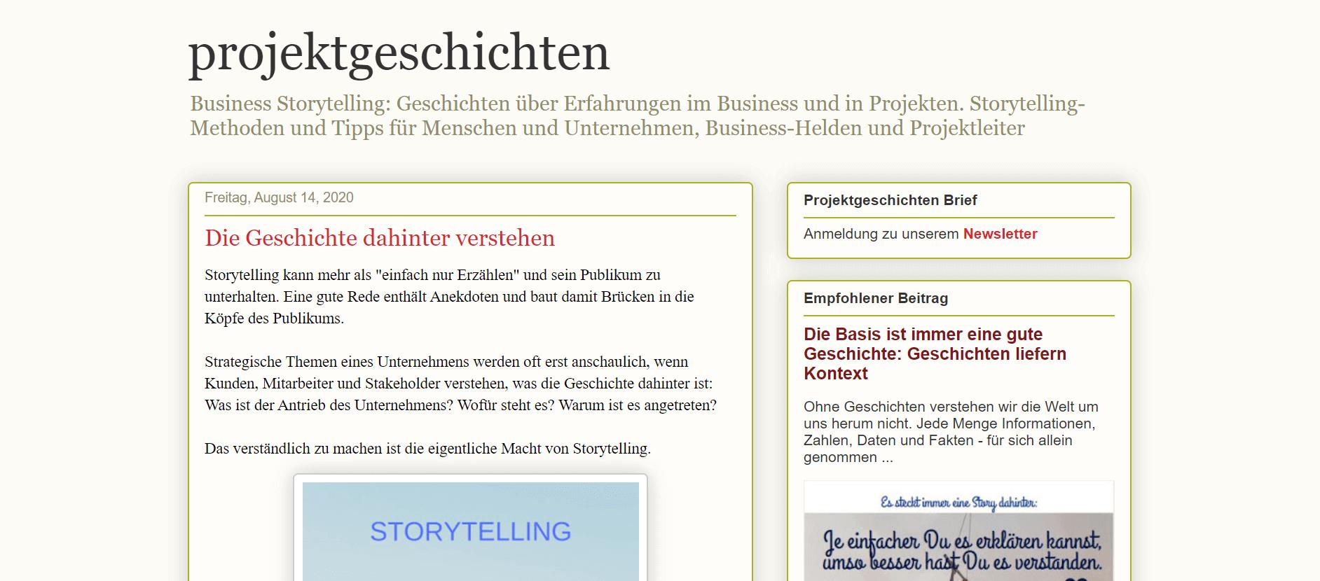 Projektmanagement-Blogs Projektgeschichten – Blog