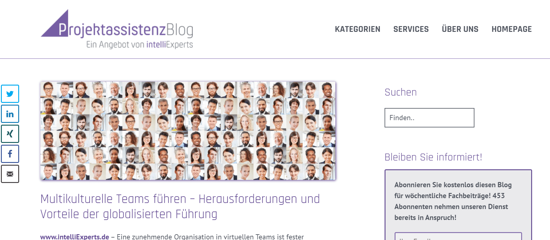 Projektmanagement-Blogs Projektassistenz-Blog