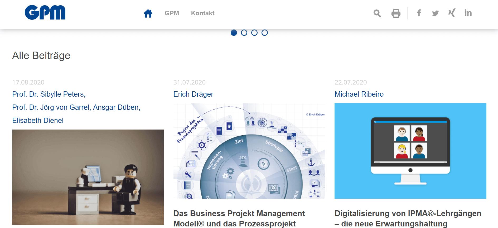 Projektmanagement-Blogs GPM-Blog