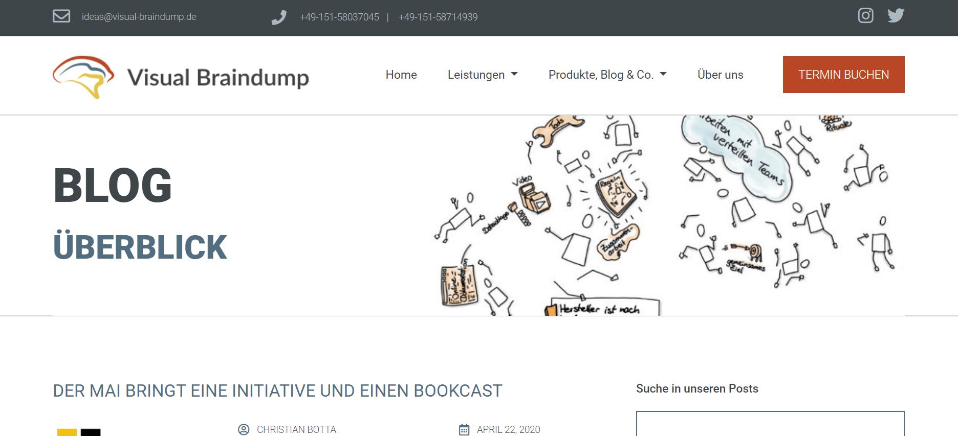 Projektmanagement-Blogs Visual Braindump