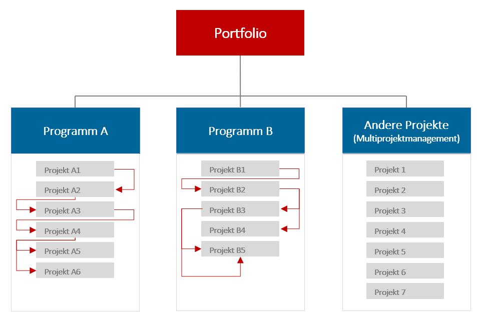 Erfolgreiches Programmmanagement Unterscheidung von Projektportfolio-, Multiprojekt- und Programmmanagement